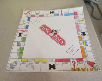 Hand Draw Monopoly Board for Framing