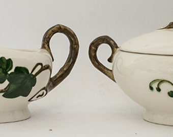 Metlox Ivy Creamer & Sugar Bowl Set