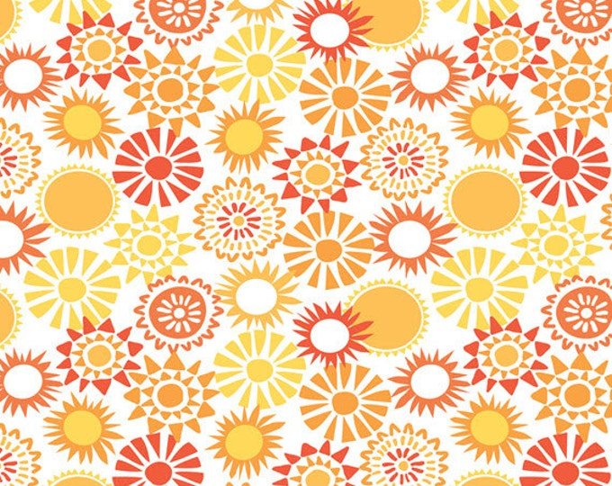Half Yard Sun-sational - Sun Kissed in Coral - Cotton Quilt Fabric - designed by Maude Asbury for Blend Fabrics - 101.117.04.2 (W3346)