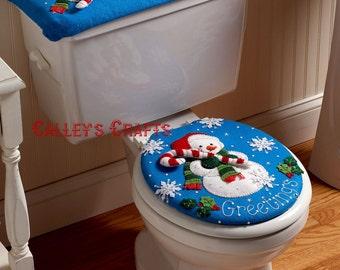 Bucilla Snowman ~ Felt Christmas Bath Ensemble Kit #86155 Greetings Frosty DIY