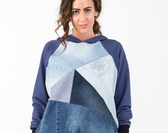 Fifty - Patchwork hoodie