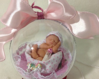 "Hush Little Baby 4"" Keepsake Polymer Clay Ornament"