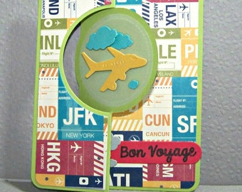 Bon Voyage...  MINI Flip It Greeting Card...
