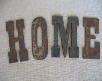 Vintage Metal Letters Home Sign Vintage Signs