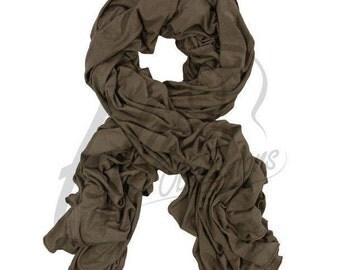 Mocha, Slate grey or khakhi Jersey Scarf