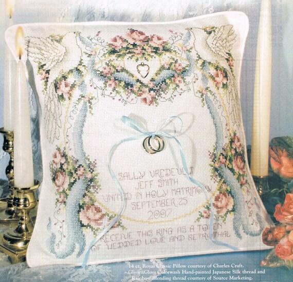 CROSS STITCH PATTERN Wedding Doves Ring Bearer Pillow