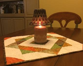 Autumn Splendor Quilted Batik Fall Table Runner