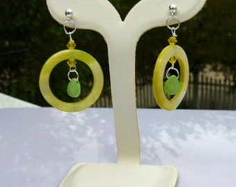Oh My Lime Green Earrings in Sterling Silver