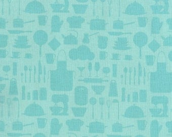 RJR Fabrics In The Kitchen 2607 01 Tonal Blue Yardage by Patrick Lose