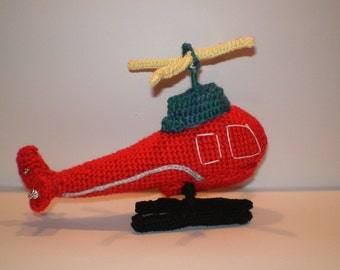 Toy Helicopter, Stuffed Helicopter crocheted