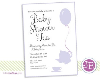 Baby Shower Tea Invitation