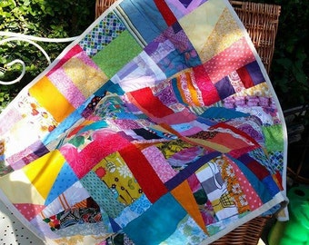 Rainbow Patchwork Baby Welcome Quilt