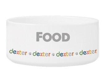 Personalized Boy Pet Bowl - Personalized Dog Bowl - Personalized Boy Pet Dish - Pet Food Bowl - Pet Water Bowl - GC1451