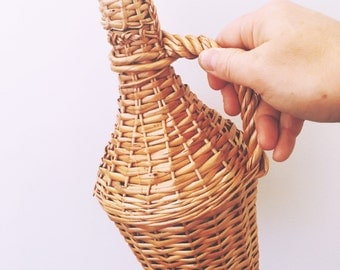 Vintage Wicker Wrapped Decanter