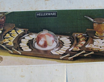 Vintage Hellerware Serving Tray - Swing Away Serwer