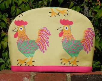 Rooster pink trim Australian Tea Cosy