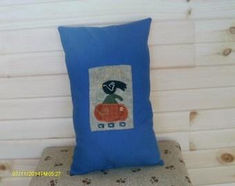 Autumn Crow And Pumpkin Pillow