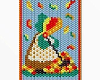 Autumn Sunbonnet Girl bead banner pattern