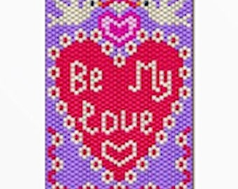 Be My Love bead banner pattern