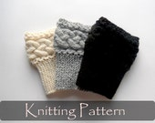 KNITTING PATTERN - Braided Boot Cuffs Cable Knit Boot Toppers Pattern Boot Socks Tutorial Knit Instructions Leg Warmers Knit Cables - P0053