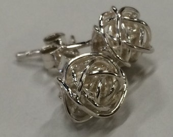 Forget me Knot, Earrings, Sterling Silver, Love Knot,