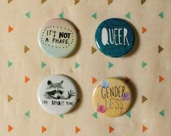 LGBTQ Pinback Button 4-Pack