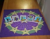 Altar Cloth or Tarot Cloth - A Ring of Pentacles - Pagan Altar Cloth - Wiccan Altar Cloth - For use anytime in the Wheel of the Year