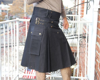 Onstyle Active Men Black Utility Kilt