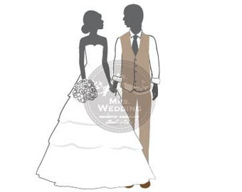 Silhouette Wedding Program - Couple 43