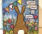 Bunny Sign | Easter  Decor | Bunny Mounted Print, Easter Decor, Spring Decoration
