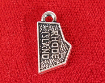 """10pc """"Rhode Island"""" charms in antique silver style (BC1025)"""