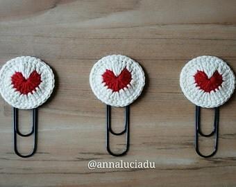 Crochet heart,crochet bookmark, crochet valentines,crochet valentine,Valentine's Day, Valentine gift,  PDF Instant Download