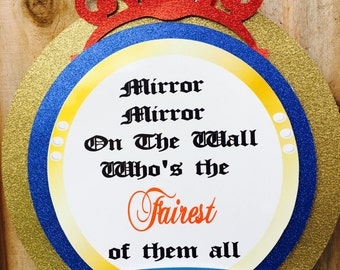Snow White Door Banner, Snow White banner ,Snow White door sign