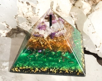 Violet Flame Orgone ~ Follow Your Heart Orgone Crystal Pyramid