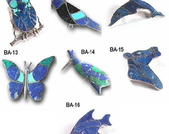Multi-Stone Animal Brooches