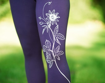 Passionflower Cotton Leggings