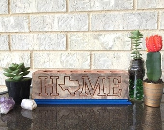 No place like Home. Texas engraved brick