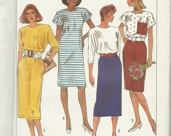 Simplicity 9197   Misses Dress in two lengths   Size 6-24  uncut