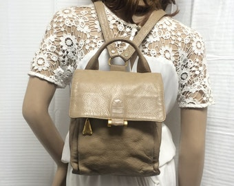 Backpack bag, Sharif, back pack, bag, leather backpack, tan, bag backpack