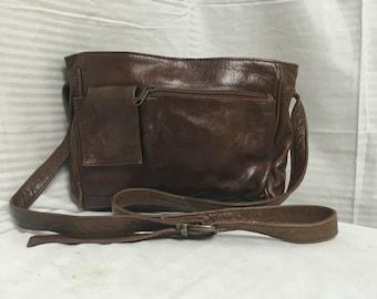 Brown leather purse, shoulder bag, bags, purses