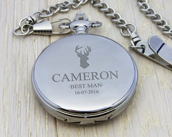 Personalised Groomsman Icon Collection Pocket Watch - Groomsmen Gift - Groomsman - Best Man - Thank You Gift FREE UK DELIVERY - Wedding Gift