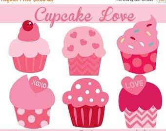 Clipart LOVE SALE Cupcake Clip Art - Valentine Clipart