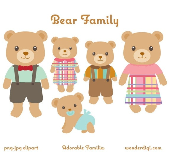 Bear Clipart Bear Family Clip art Bears Clipart Animal