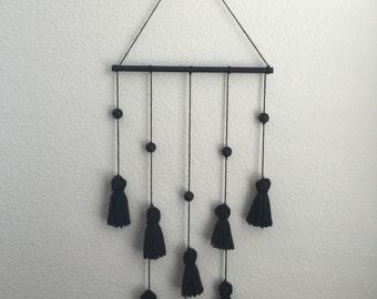 Black Tassel Wall Art