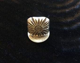 Silver Flower Ring - Large