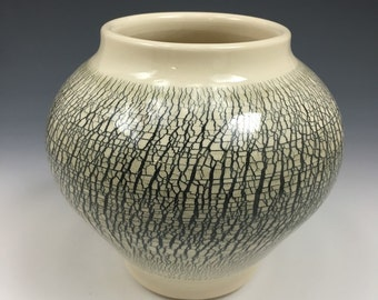 Handmade Textured Ceramic Vase