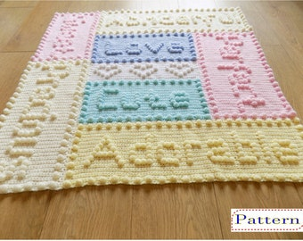 Precious Baby Blanket Crochet PATTERN by Peach.Unicorn
