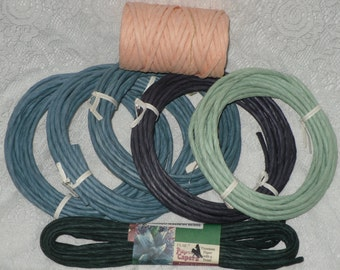 Twisted Paper Assortment Blues, Greens & Peach Unused Lot
