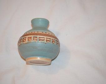 Handmade Spanish vintage bottle/jug art for display/wall hanging from Spain/hispanic