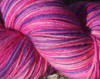 July Pinks #5 -Hand Dyed 4 ply sock yarn 100g - Superwash